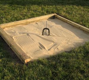 Build a horseshoe pit