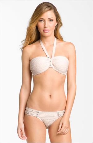 Robin Piccone crocheted halter-style bikini