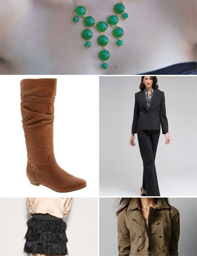 5 fall must-haves fashion accessories boots necklace feathers