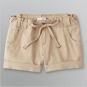 cuffed linen shorts