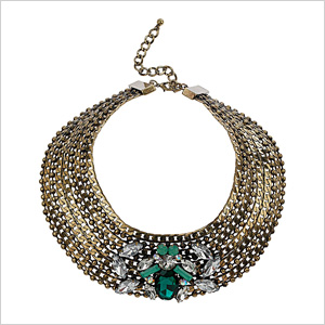Layer on a jeweled collar
