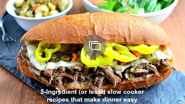 5-ingredient slow cooker recipes