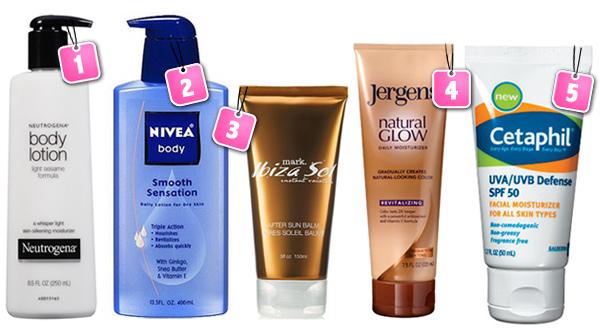 5 Light moisturizers
