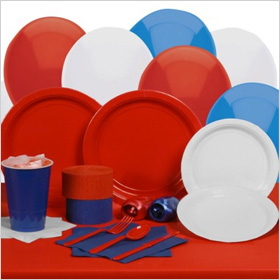 Red White and Blue Party Kit