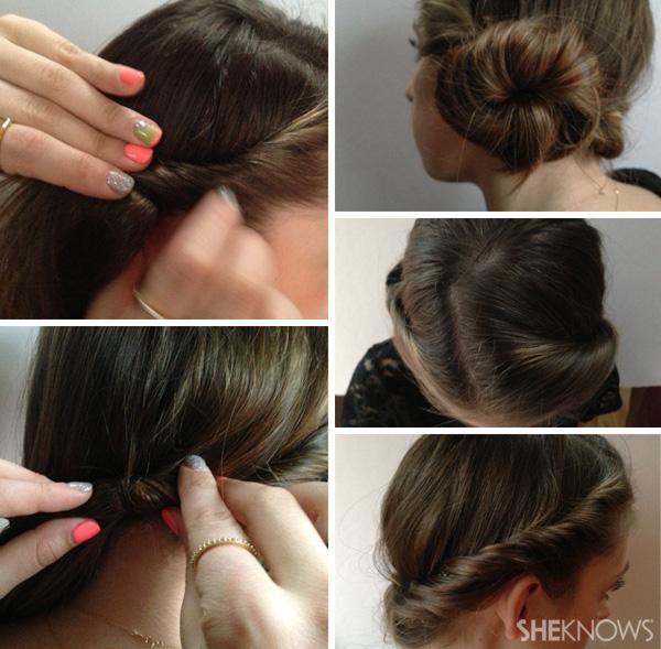 DIY Wedding hair style - all around twist
