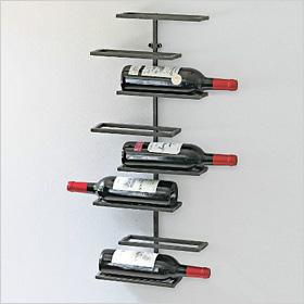urban wall-mounted wine rack