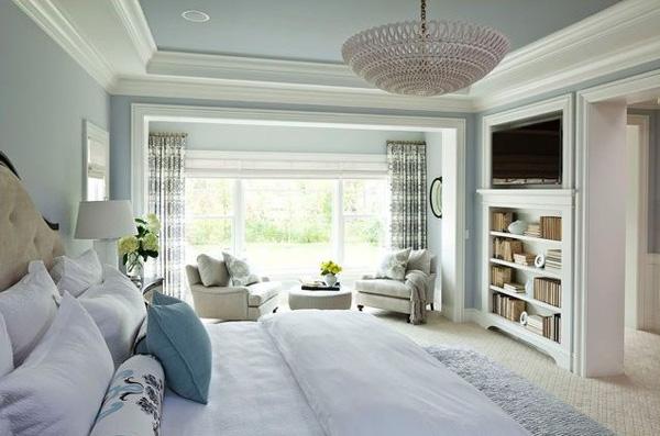 A blue winter bedroom