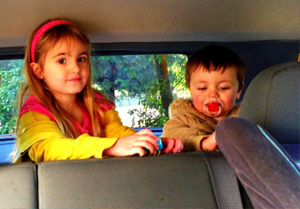 Playing in the car
