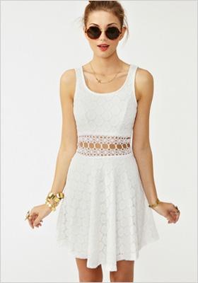 Open circle white dress
