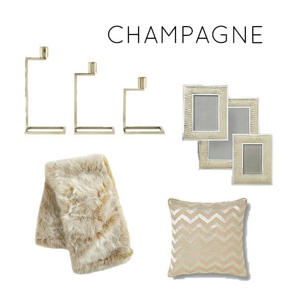 Champagne color scheme for a bedroom