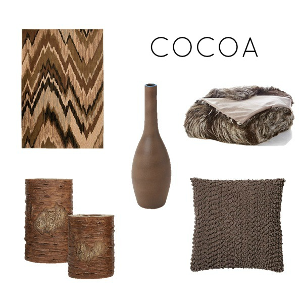 Cocoa color scheme for bedroom