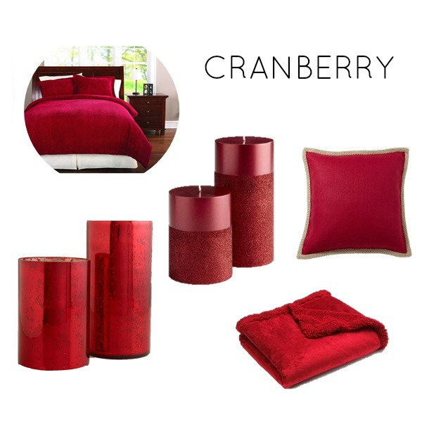 Cranberry color scheme for bedroom