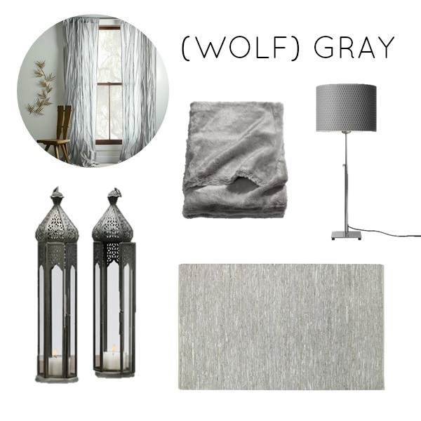 (Wolf) Gray color scheme for bedroom