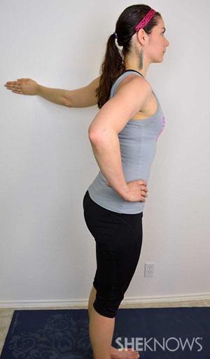 Wall Shoulder Stretch