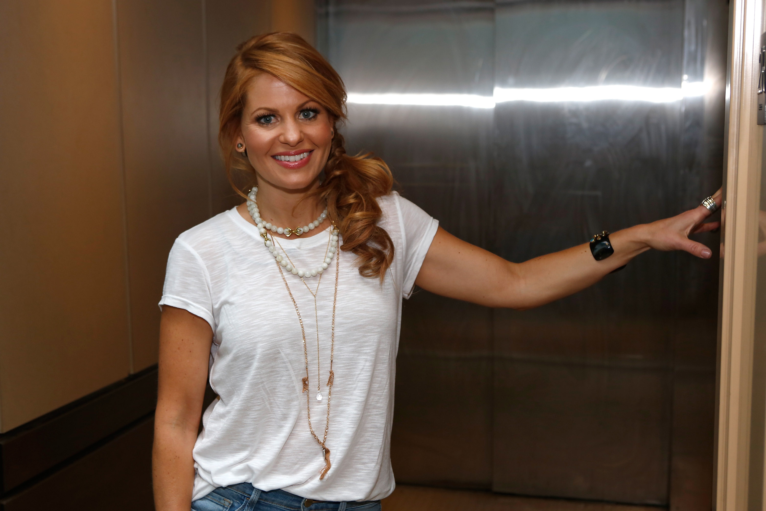 Candace Cameron Bure at Banfield Hospital