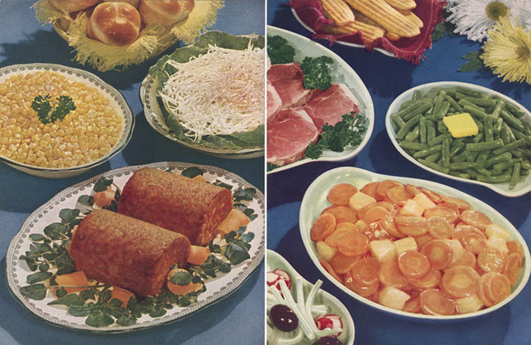 vintage holiday meal