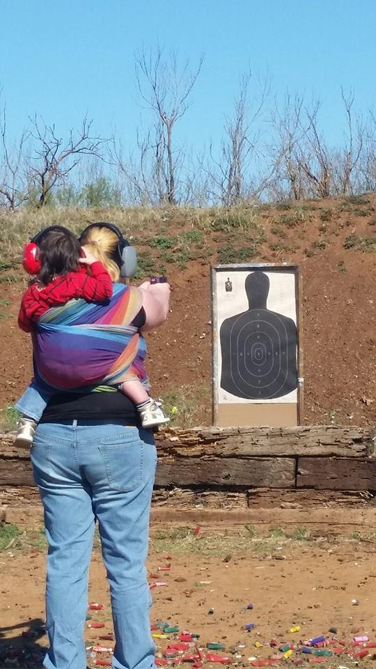 Babywearing at the gun range