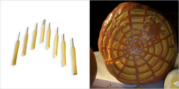 5. For shaving designs into the shell: chisels