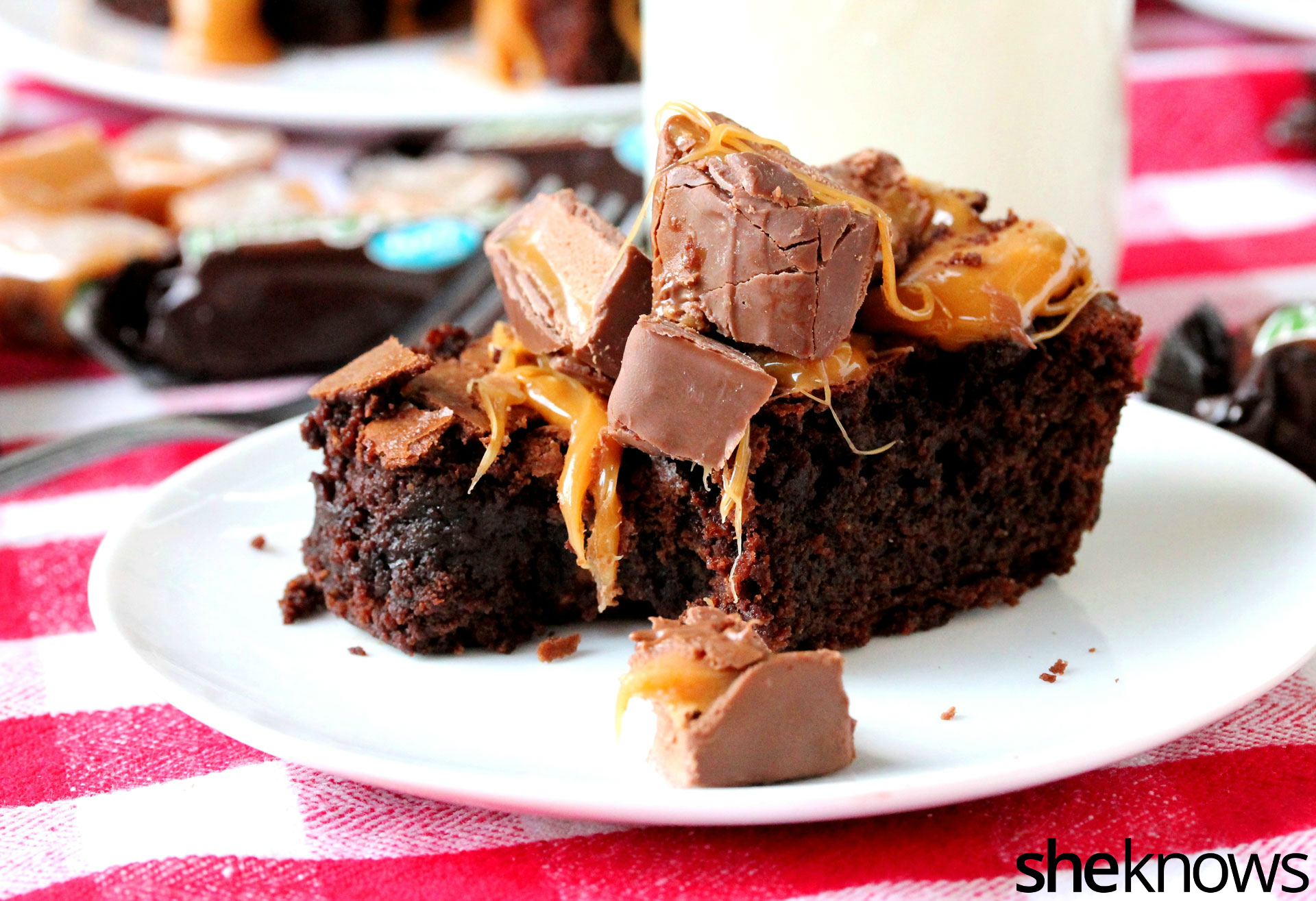 bite of milky way brownie