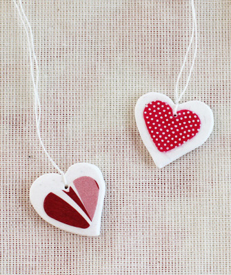 Cute decoupage heart necklace