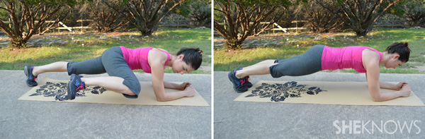 Knee-to-elbow planks | SheKnows.com