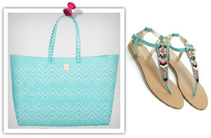 Turquoise tote