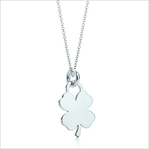 Four-leaf clover tag charms from Tiffany