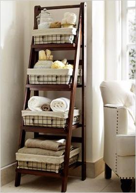 Benchwright ladder floor storage