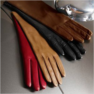 Soft and silky leather gloves