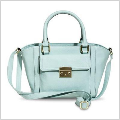 Women's Mini Satchel Handbag in Light Mint (Target, $30)