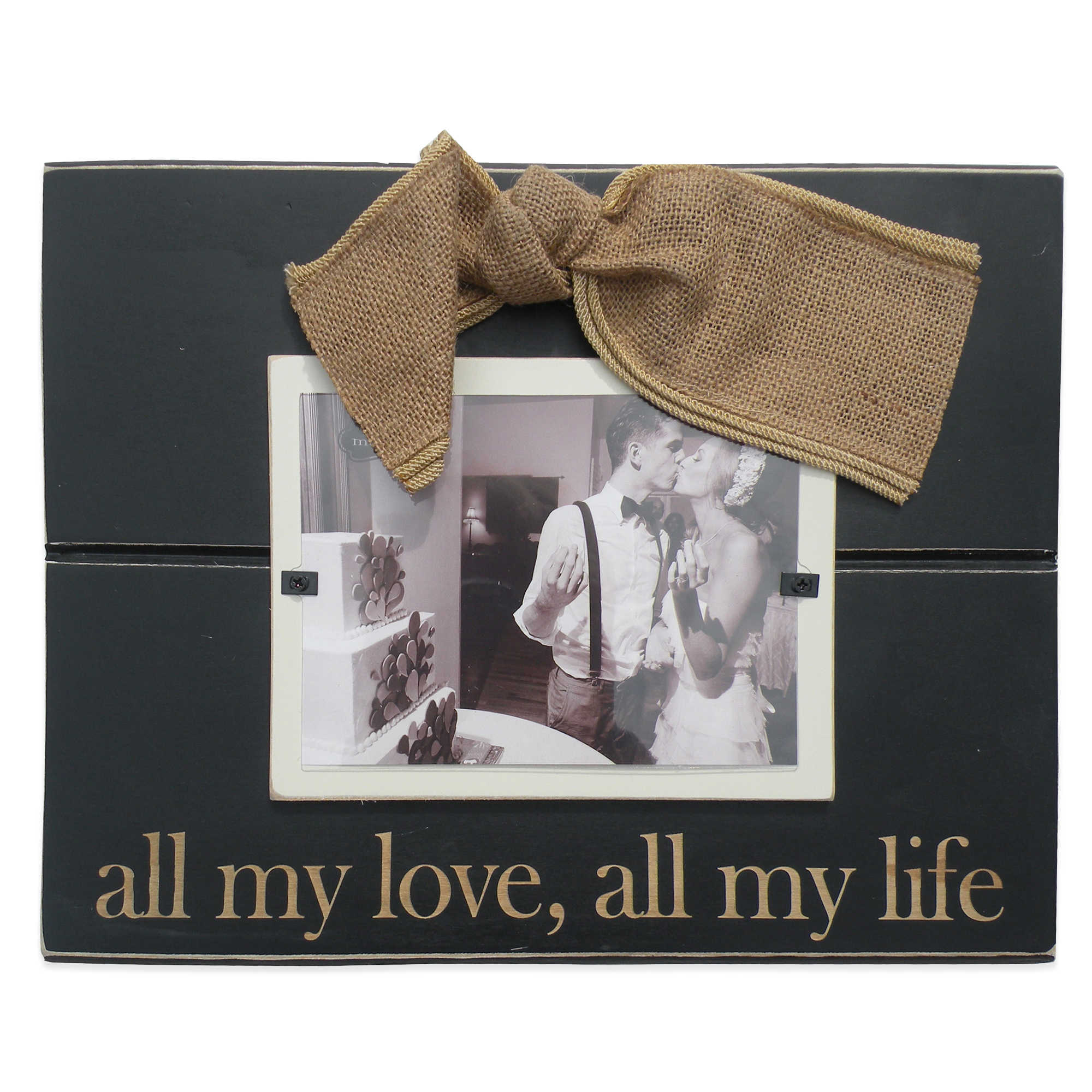 "Rustic ""All My Love"" picture frame for engagement or wedding pic"
