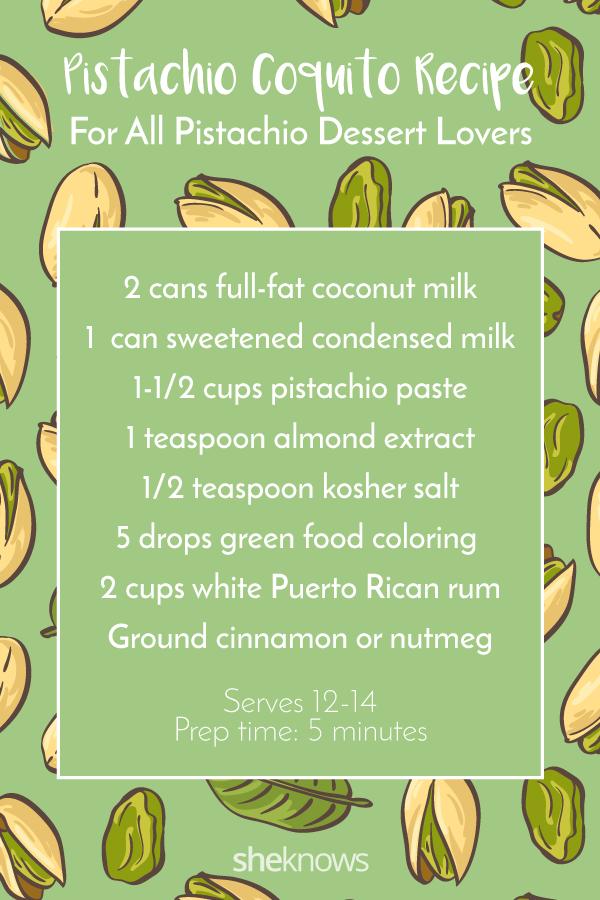 Pin it! Pistachio Coquito Recipe
