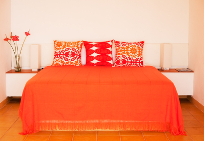 Bright Orange Bedroom Decor