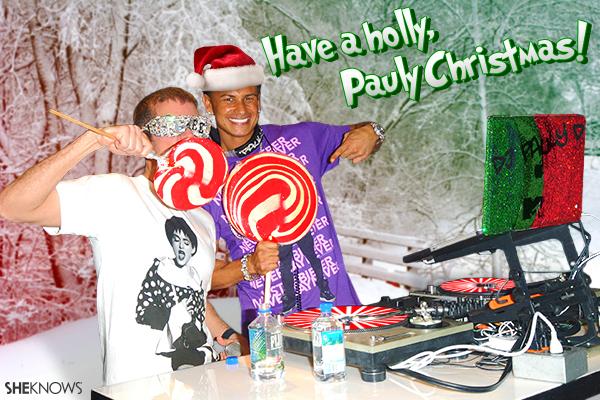 Pauly D Christmas card