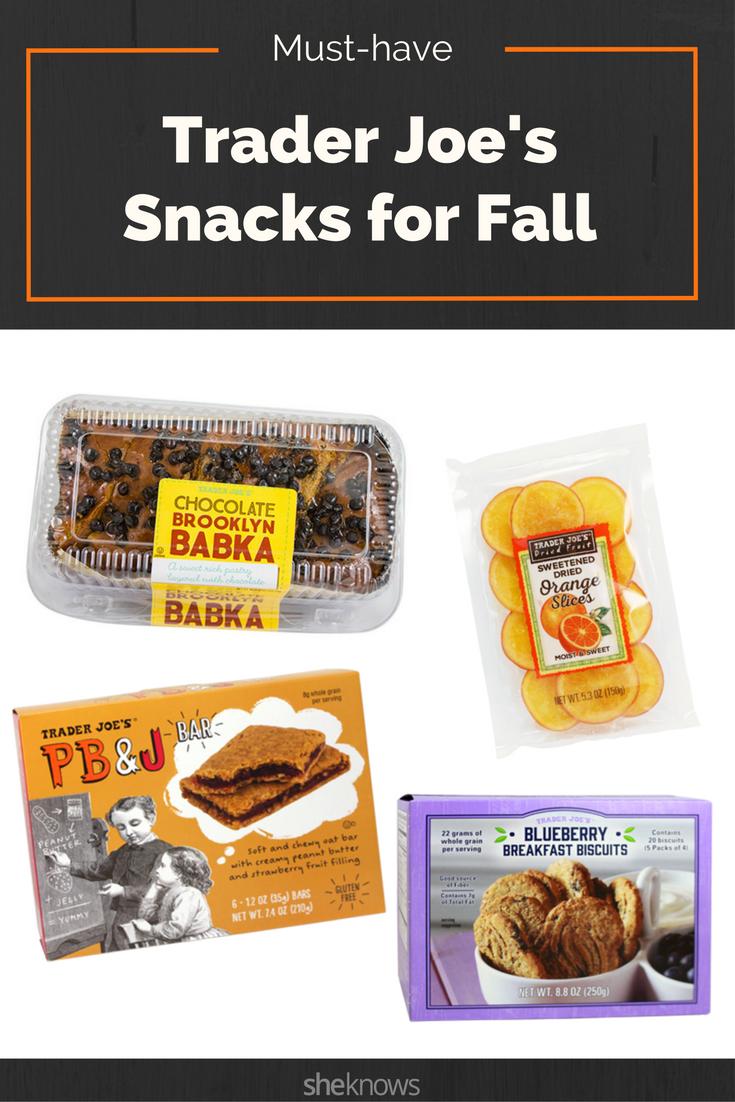fall trader joe's snacks