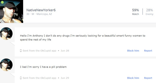 Horrifying and real OKCupid messages 6