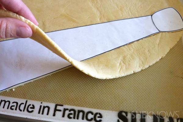 Remove excess dough