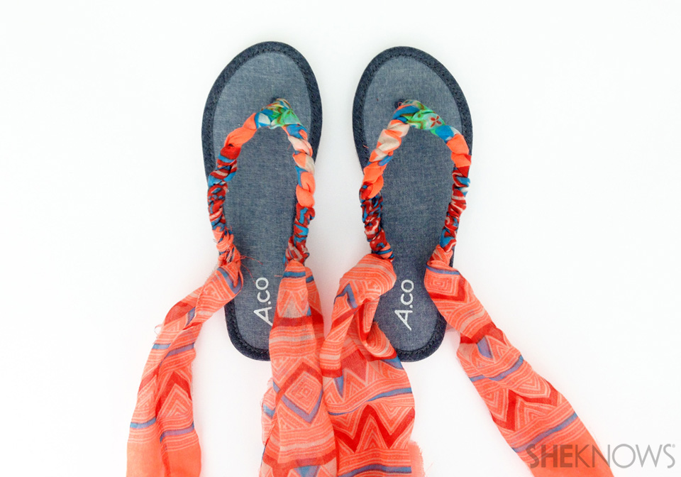 Repeat for your other sandal