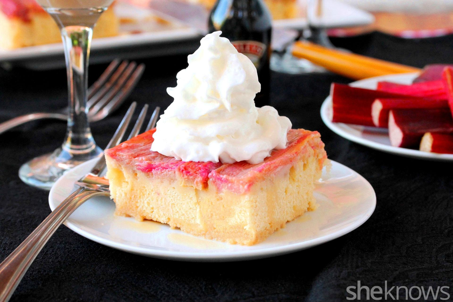 rhubarb cake upside down