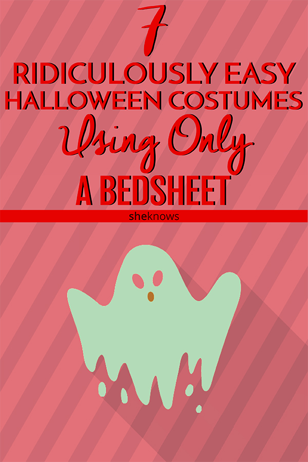You don't need anything more than a bedsheet to make an awesome Halloween costume for your kid.