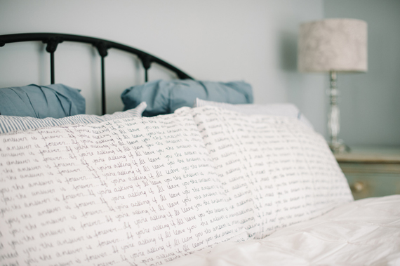 Scripted pillow cases