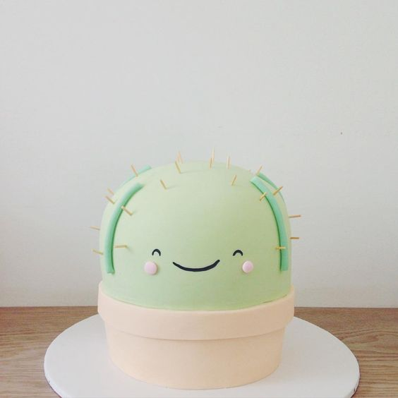 Trendy Birthday Cakes from Instagram   Cactus Cake