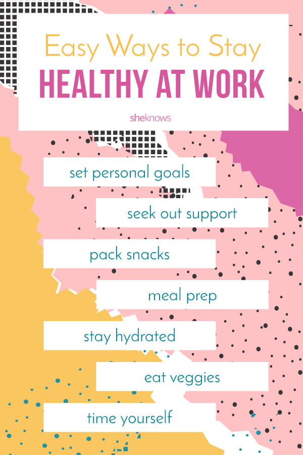 Pin it! Easy way to stay healthy at work