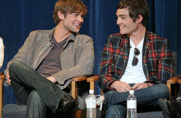Actors Chace Crawford and Ed Westwick