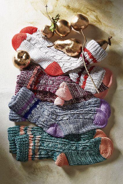 varsity knit socks