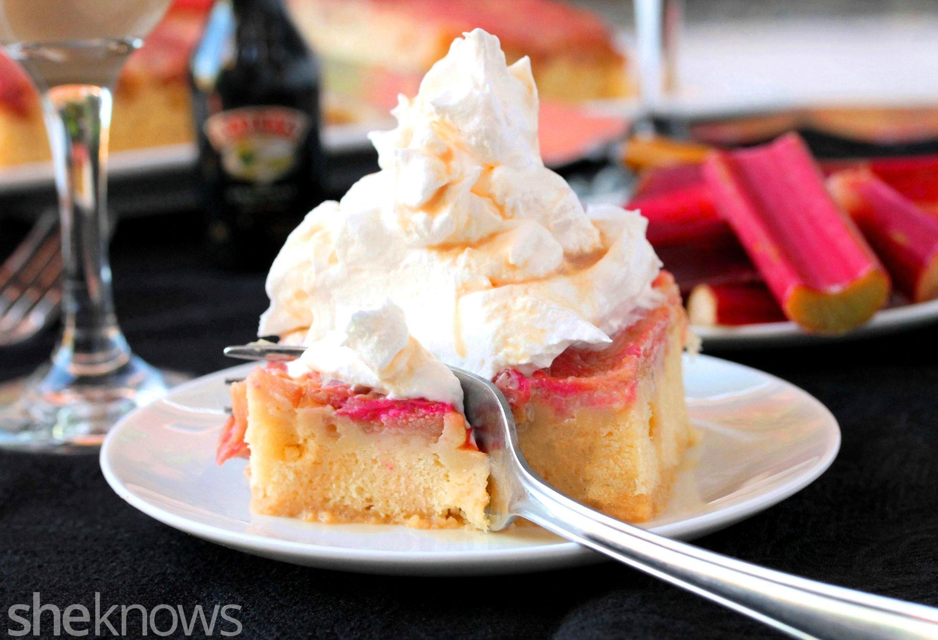 rhubarb baileys cake