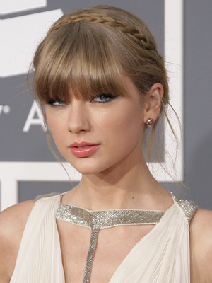 Taylor Swift's Bangs and buns