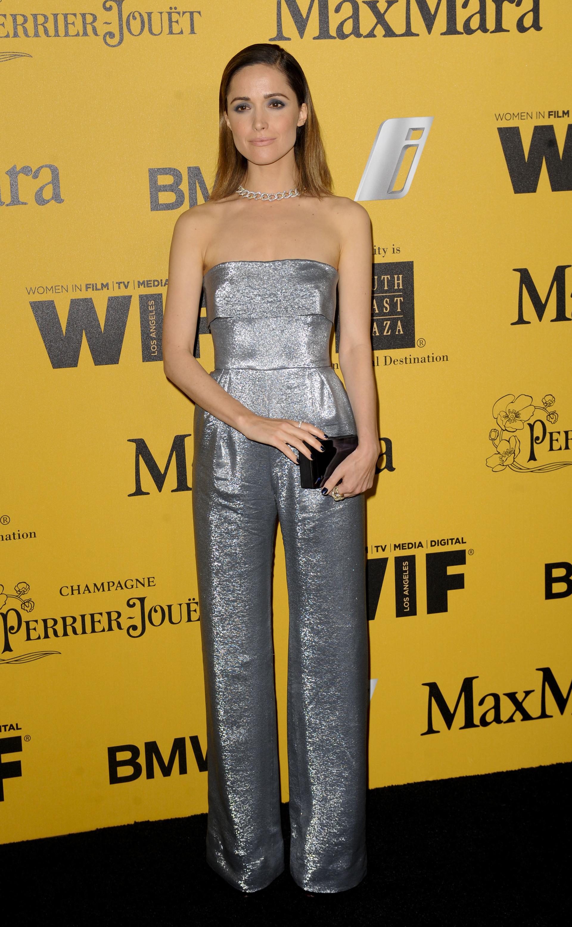 Rose Byrne wearing a jumpsuit