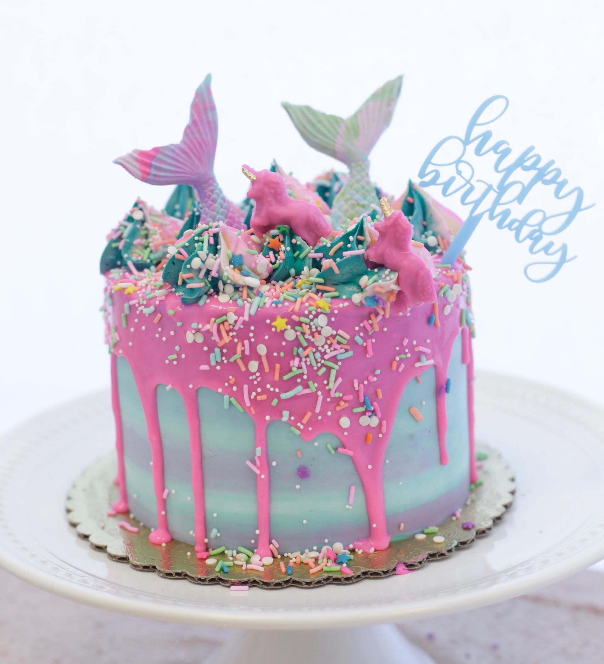 Unicorn Mermaid 5 Cake Topper Trendy Birthday Cakes From Instagram