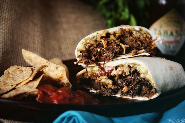 slow cooker burritos